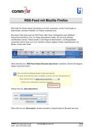 RSS-Feed mit Mozilla Firefox - SchulCommSy