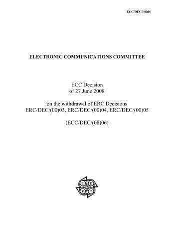(ECC/DEC/(08)06