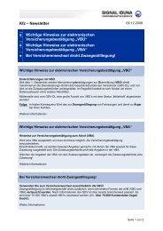 Kfz – Newsletter Wichtige Hinweise zur ... - Vdk-online.de