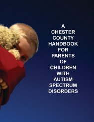 chester county handbook for parents of children with autism