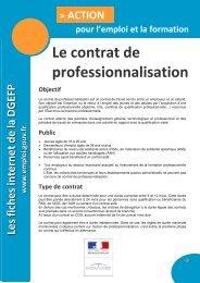 Le contrat de professionnalisation - FIORE-Corse