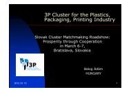 3P Cluster for the Plastics, Packaging, Printing Industry