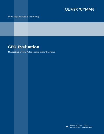 CEO Evaluation Insight - Sport and Recreation Alliance