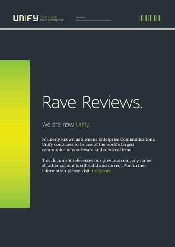 Rave Reviews.