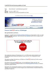 CashSTOP für den KanAm grundinvest Fonds Von: KanAmGrund ...