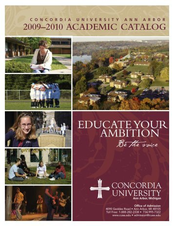 2009–2010 Academic Catalog - Concordia University Ann Arbor