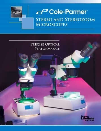 Stereo Microscope Brochure(377KB) - Cole-Parmer