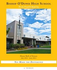 download the 2013 donor list. - Bishop O'Dowd High School