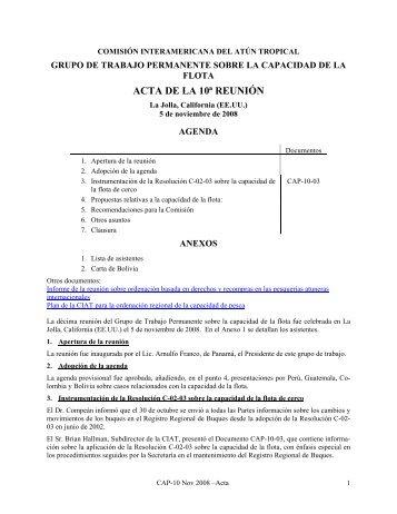10 - Comisión Interamericana del Atún Tropical