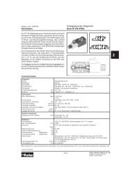 D1VW - Wegeventile 8 Watt - Siebert Hydraulik & Pneumatik