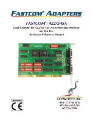 FASTCOM®: 422/2-ISA HARDWARE MANUAL - Commtech-fastcom ...