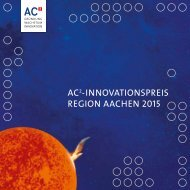 AC -Innovationspreis Region Aachen 2015
