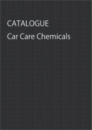 Car Care Chemicals for Consumer Use