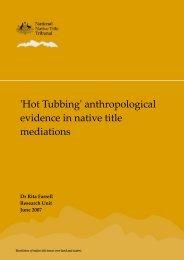 Hot Tubbing - National Native Title Tribunal