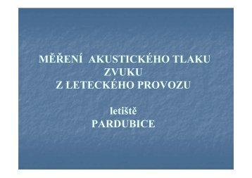 Měření aktustického tlaku zvuku - prezentace ... - Letiště Pardubice
