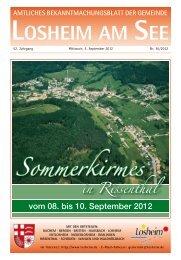 KW 36 12 LOS - Gemeinde Losheim am See