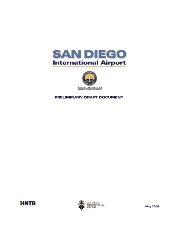 PRELIMINARY DRAFT DOCUMENT - San Diego International Airport
