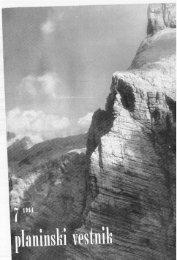 Janez Jeram - Planinski Vestnik
