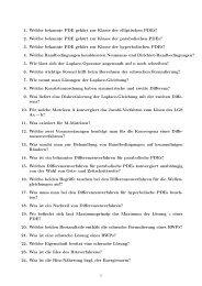 1. Welche bekannte PDE gehört zur Klasse der elliptischen PDEs? 2 ...