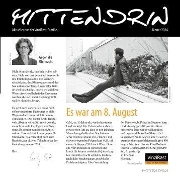 Aktuelle Ausgabe unserer Zeitung Mittendrin (Jänner 2014) als PDF.