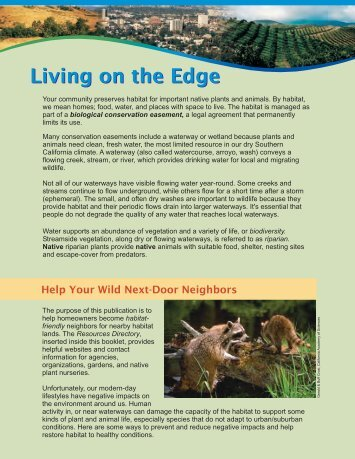 Living on the Edge - Riverside-Corona Resource Conservation ...