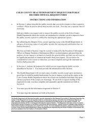 FOI Request Form - Coles County