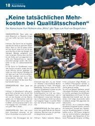 Der Alpinschuster Kurt Hofmann gibt Tipps zum ... - Gebirgsverein