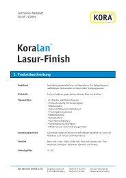 Koralan® Lasur-Finish 1. Produktbeschreibung - KORA Holzschutz