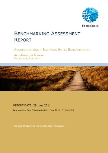 BENCHMARKING ASSESSMENT REPORT - EarthCheck