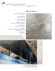 Download Product Data Sheet for MD101 Stone - Meltdown Glass