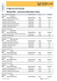 E-Rpt-01-02-021(d) Masterfile - EMIS - Eastern Cape Department of ...