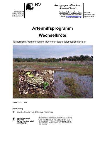 Artenhilfsprogramm Wechselkröte - LBV-München