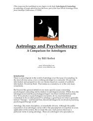 Astrology and Psychotherapy - Bill Herbst, astrologer