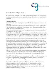 C3 zoekt nieuwe collega's (m/v) C3 adviseurs en managers is een ...