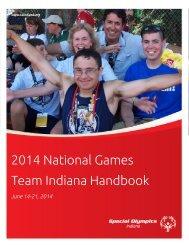 2014 National Games Team Indiana Handbook - Special Olympics ...
