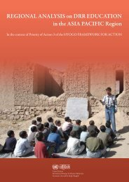 Regional Analysis on DRR Education in the Asia ... - INEE Toolkit