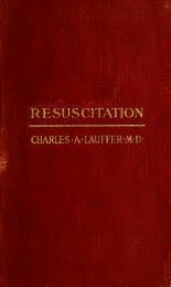 Resuscitation from electric shock, traumatic shock, drowning ...