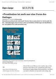 «Prostitution ist auch nur eine Form des Datings» - News ... - Applaus