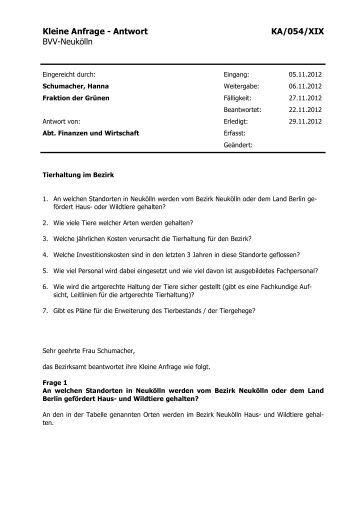 Die Anfrage inkl. Antwort und Anlage können Sie hier auch als PDF ...