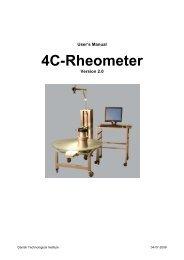 4C-Rheometer Manual - Danish Technological Institute