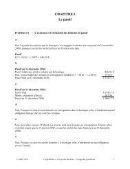 Problème 1 : Existence des éléments de passif et détermination du ...
