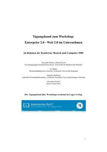 Enterprise 2.0 - Web 2.0 im Unternehmen - Kooperationssysteme