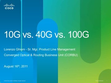 100G - Cisco Knowledge Network