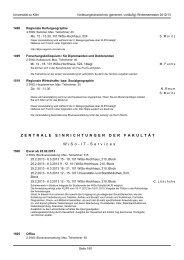 Veranstaltungen anderer Fakultäten - KOOST - Universität zu Köln
