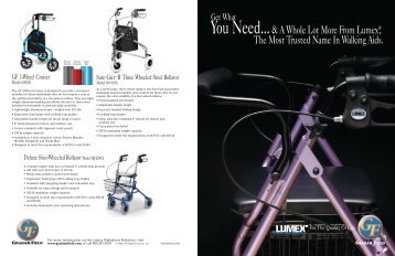 You Need...& A Whole Lot More From Lumex®, The Most Trusted ...