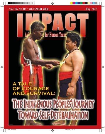 Vol 40, No 10 •OCTOBER 2006 Php 70 - IMPACT Magazine Online!