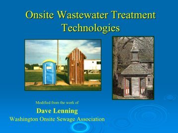 Onsite Wastewater Treatment Technologies - Center for ...