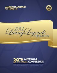 Living Legends Program - American Academy of Nursing