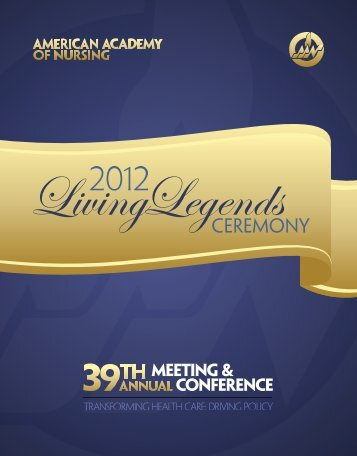 Living Legends Program - American Academy of Nursing