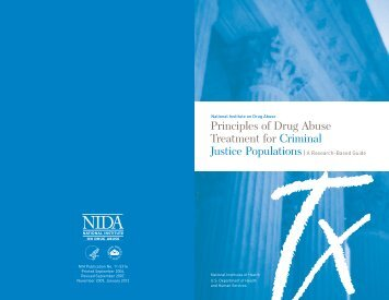 Principles of Drug Abuse Treatment for Criminal Justice Populations